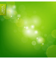 Green Eco Background With Blur vector image