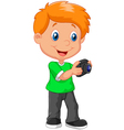 Little Boy Holding a Camera vector image