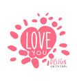 love you logo template original design colorful vector image