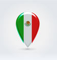 Mexican icon point for map vector image