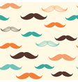 Mustache seamless background vector image
