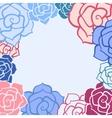 Rose flower invitation card vector image
