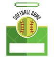 Softball Game Flyer vector image