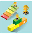 success concept - isometric vector image