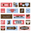 vintage love pictures and titles vector image