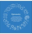 optometry round concept Optician vector image