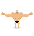 Cheerful Muscled Man Cartoon vector image