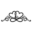 Infinity with two hearts vector image