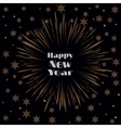 Happy New Year Card with Starburst and Snowflakes vector image vector image