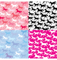 Set of seamless patterns with wild horses vector image