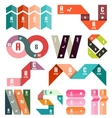 Set of stripes infographic design templates vector image vector image