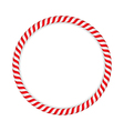 Candy Cane Circle vector image vector image