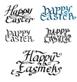 collection Handwritten ink inscription happy vector image