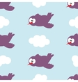 Seamless pattern with birds in clouds vector image