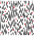 abstract spot seamless pattern black and red blot vector image