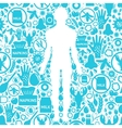 Allergy Symptoms Background vector image