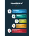 Colorful infographics or website layout template vector image