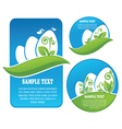 Happy holly Easter sticker and labels collection vector image