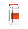 milk box isolated vector image