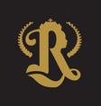 royal crown logo vector image
