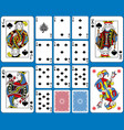 spades suite playing cards french style vector image