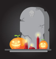 The spooky old tombstone Halloween vector image
