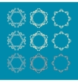 with set of rosettes vector image