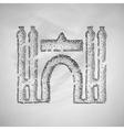 Barcelona building icon vector image