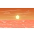 cartoon sea sunset vector image