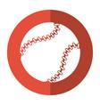 baseball ball sport game shadow vector image