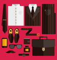 flat business collection dress vector image
