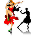 two dancers vector image vector image