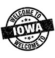 welcome to iowa black stamp vector image