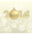 New year 2014 gold banner vector image vector image