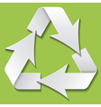 Recycling symbol vector image vector image