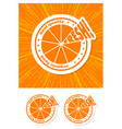 orange label vector image vector image
