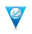 smoking BLUE triangular map pointer vector image vector image