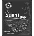 Vintage poster for Japanese restaurant vector image