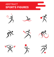 Abstract sports shapes vector image vector image
