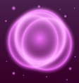 Abstract background with pink plasma circle effect vector image