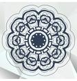 Arabic or indian mandala medallion lace design vector image
