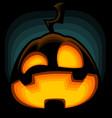 cartoon halloween pumpkin silhouette mad laugh vector image