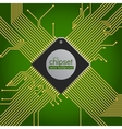 Chipset circuit background vector image