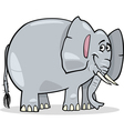 cute african elephant cartoon vector image
