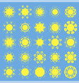 different sun icons vector image