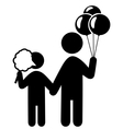 Entertainment Pictograms Flat Family Icon with vector image