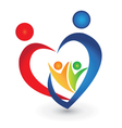 Family union in a heart shape vector image