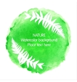 Green watercolour nature icon on white background vector image
