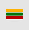 Lithuania flag state symbol stylized geometric vector image