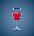 Logo glass of wine vector image